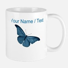 Custom Blue Butterfly Mugs
