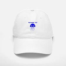 Custom Blue Jellyfish Baseball Baseball Cap