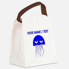 Custom Blue Jellyfish Canvas Lunch Bag