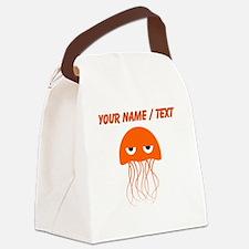 Custom Orange Jellyfish Canvas Lunch Bag