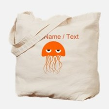 Custom Orange Jellyfish Tote Bag