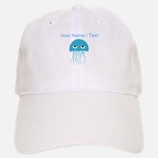 Custom Light Blue Jellyfish Baseball Baseball Cap