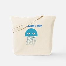 Custom Light Blue Jellyfish Tote Bag