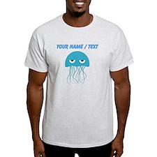 Custom Light Blue Jellyfish T-Shirt