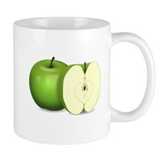 Sliced Green Apple Mugs