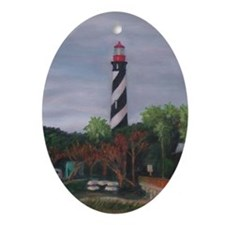 LIGHTHOUSE MORNING 12X16 Ornament (Oval)