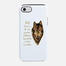 Wolf Totem Animal Spirit Guide iPhone 7 Tough Case