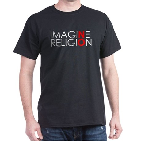 imagine no religion black copy T-Shirt