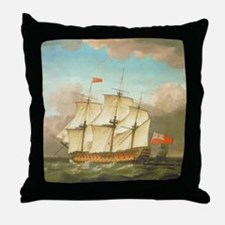 HMS Victory by Monamy Swaine Throw Pillow