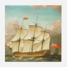 HMS Victory by Monamy Swaine Tile Coaster
