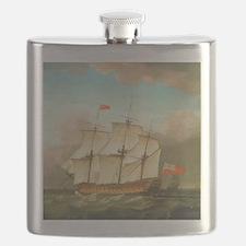HMS Victory by Monamy Swaine Flask