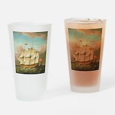 HMS Victory by Monamy Swaine Drinking Glass