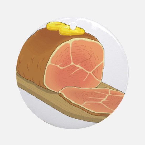 Sliced Ham Ornament (Round)