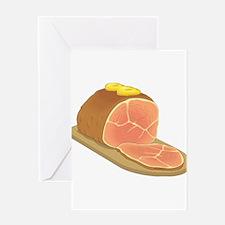 Sliced Ham Greeting Cards