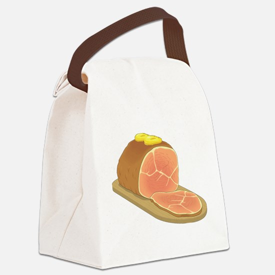 Sliced Ham Canvas Lunch Bag