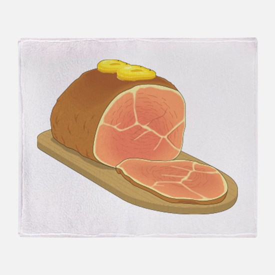 Sliced Ham Throw Blanket