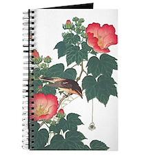 Journal With Japanese Floral & Bird Motif