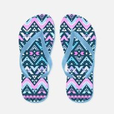 Mix #483, Purple Aztec Flip Flops