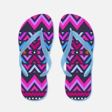 Mix #482, Purple Aztec Flip Flops
