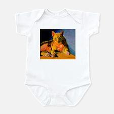 Pop Art Orange Cat Infant Bodysuit