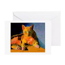 Pop Art Orange Cat Greeting Cards (Pk of 10)