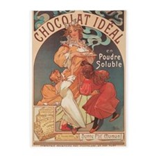 Chocolat Ideal, Mucha, Vintage Poster 5'x7'Area Ru