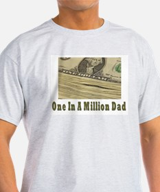 One In A Million Dad Ash Grey T-Shirt