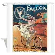 Cycles,Falcon,Bicycle, Vintage Poster Shower Curta