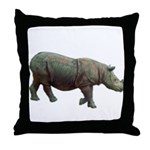sumatran rhino Throw Pillow