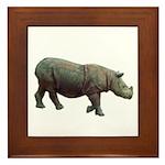 sumatran rhino Framed Tile