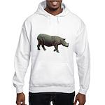 sumatran rhino Hooded Sweatshirt