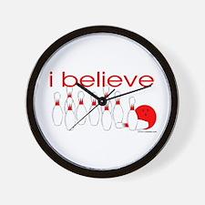 I believe in bowling Wall Clock