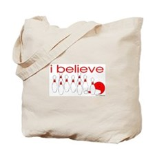 I believe in bowling Tote Bag