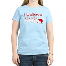 I believe in bowling Women's Pink T-Shirt