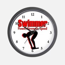 AWESOME SWIMMER Wall Clock