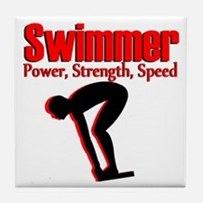 AWESOME SWIMMER Tile Coaster