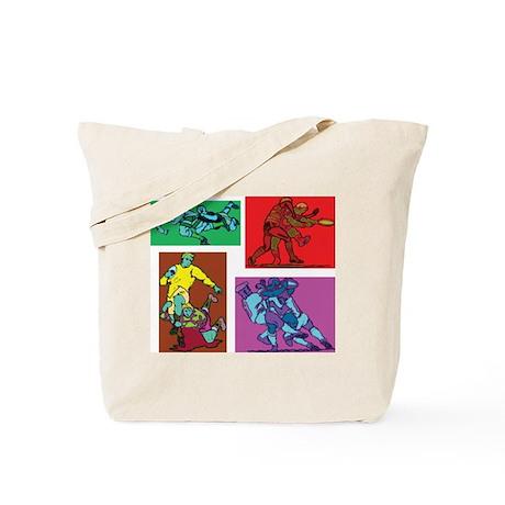 Pop Art Rugby Tote Bag