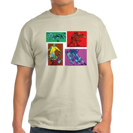 Pop Art Rugby Ash Grey T-Shirt