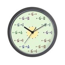 Math Clock (AM-PM) Wall Clock
