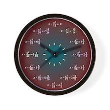 Math Clock Red-Blue (AM-PM) Wall Clock