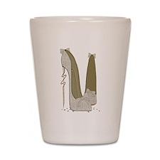 Wedding Stiletto Shoes Art Shot Glass