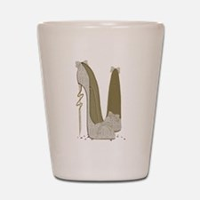 Wedding Stiletto Shoes Art Shot Glass