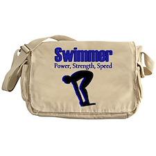 NUMBER 1 SWIMMER Messenger Bag