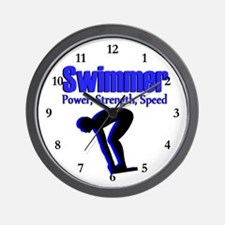NUMBER 1 SWIMMER Wall Clock