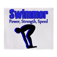 NUMBER 1 SWIMMER Throw Blanket