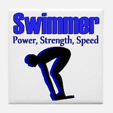 NUMBER 1 SWIMMER Tile Coaster