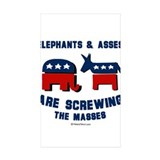 Elephants and asses screwing the masses 10 Pack