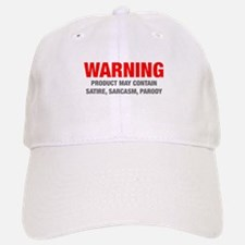 warning-sarcasm-HEL-RED-GRAY Baseball Baseball Baseball Cap