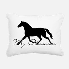 Horse Obsession Rectangular Canvas Pillow