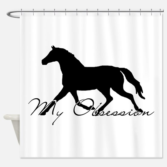 Horse Obsession Shower Curtain